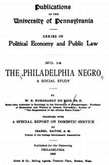 Title page: The Philadelphia Negro